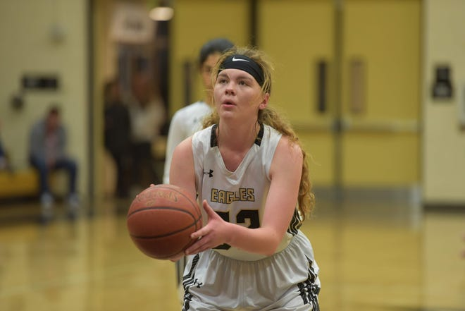 Julia Broms, a 6-foot-1 center, has averaged 11.6 points and 11.6 rebounds per game for Oak Park. The Eagles play in the CIF-SS Division 4AA championship game Saturday night at Azusa Pacific University.