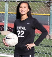 Royal's Ava Romerosa was named the MVP Goalkeeperfor the Coastal Canyon League.