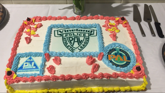 Explosive growth in Cumberland County's three municipal police athletic leagues was cause for cake at an event Thursday night at the Technical Education Center in Millville
