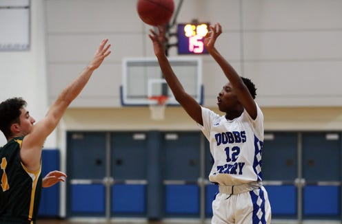Dobbs Ferry defeated Hastings 56-50 in boys basketball playoff action at Dobbs Ferry High School Feb. 21,  2019.