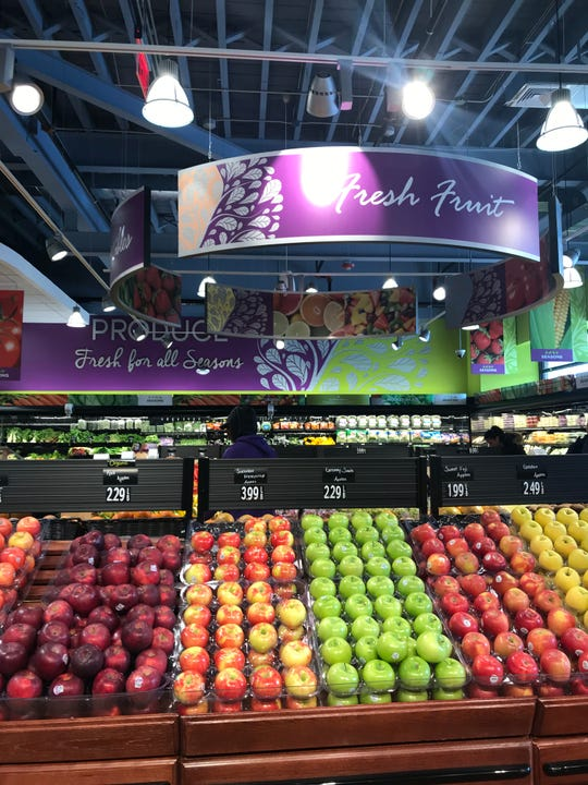 The produce section at Seasons, a kosher supermarket in Scarsdale. Photographed Feb. 21, 2019.