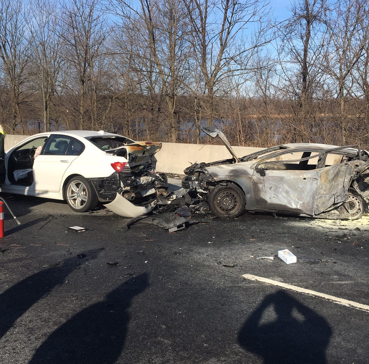 'Humanity is there,' says woman rescued from fiery I-95 crash in Delaware
