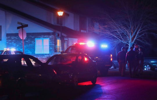 New Castle County Police investigate after a report of a shooting on South Cedar Creek Court in Bear Thursday shortly after 9:10 p.m.