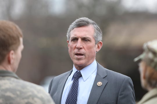 Gov. John Carney tours the Delaware National Guard's Counterdrug Task Force in Delaware City on Friday.