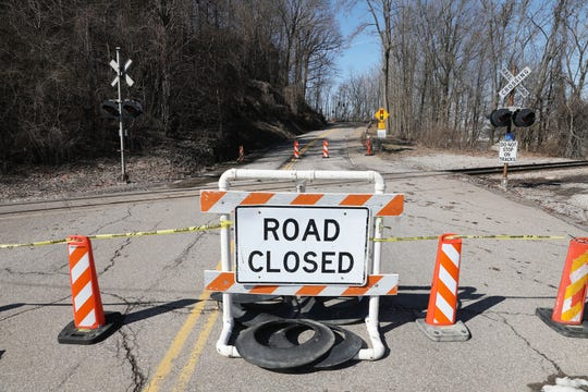 Muskingum Avenue, also know as Dug Road, has been closed to both lanes since February due to another slip developing along the riverside of the roadway caused by Muskingum River flooding.