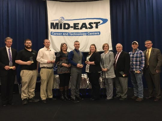 Mid-East Career and Technology Centers recently held its induction ceremony for the 2018 Class of its Hall of Fame and presented the annual Friend of Mid-East Award.