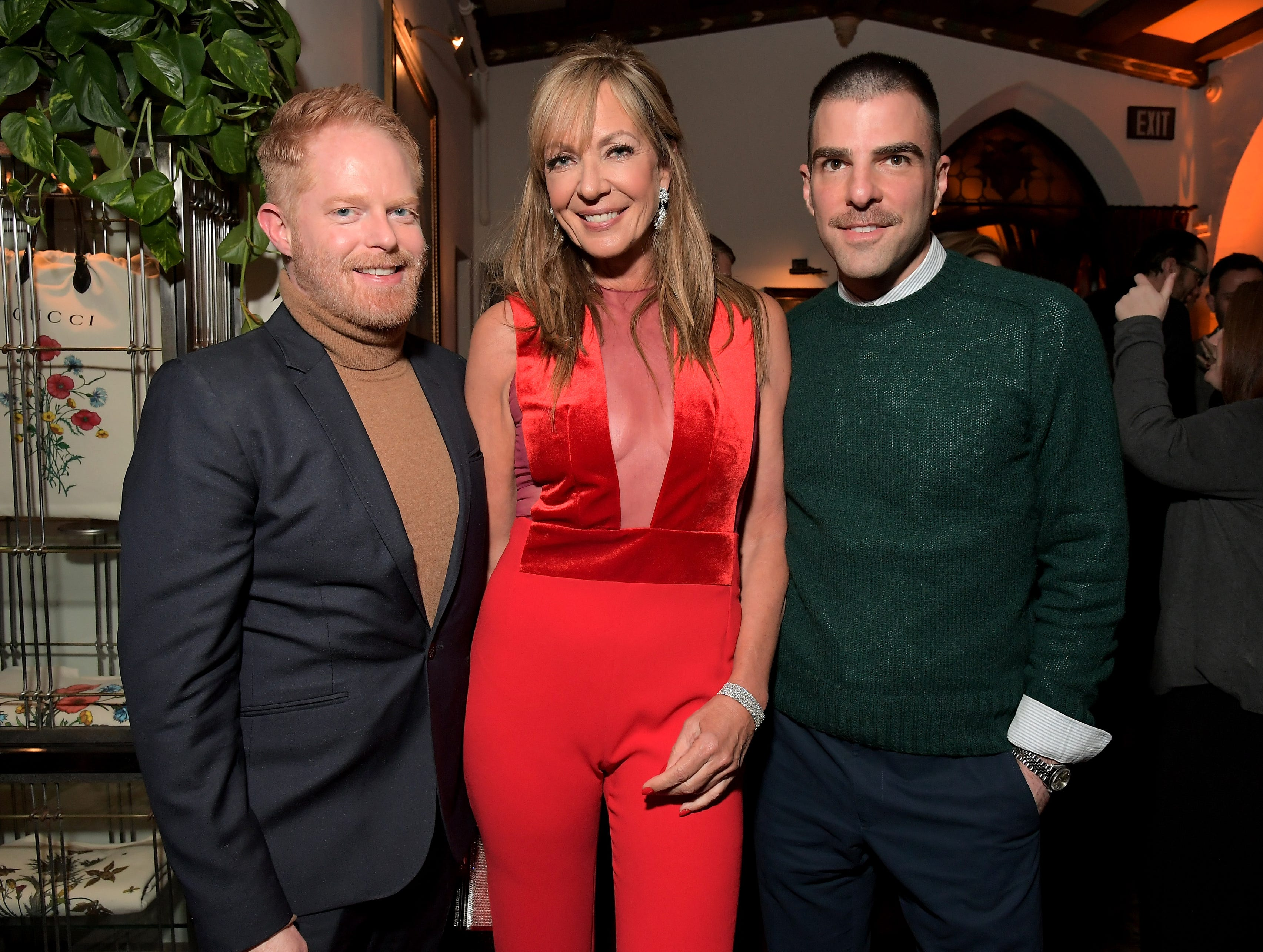 Who knew they were buds? Allison Janney, Jesse Tyler Ferguson, and Zachary Quinto hit Cadillac Oscar Week Celebration.