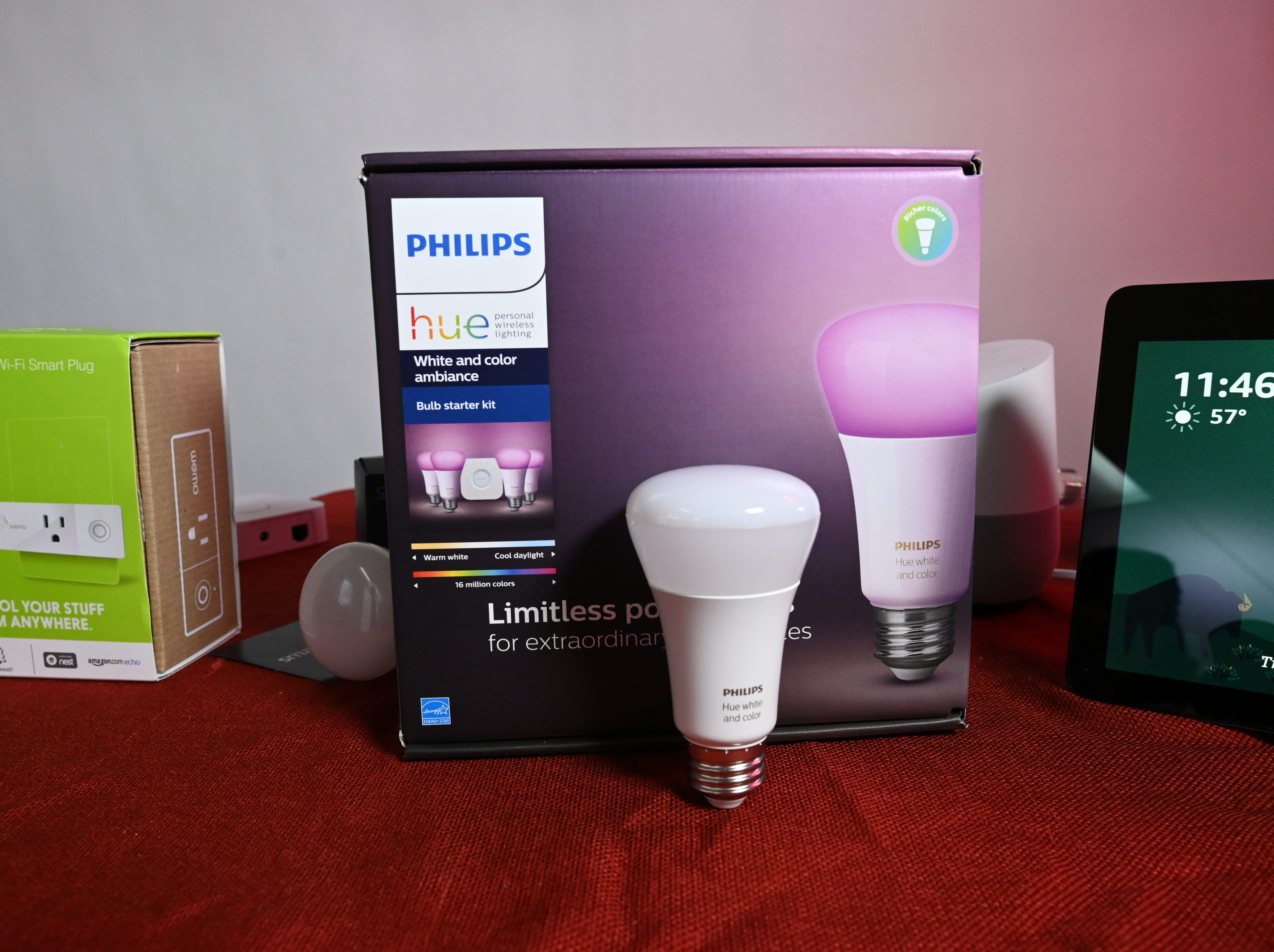 A Philips Hue light.