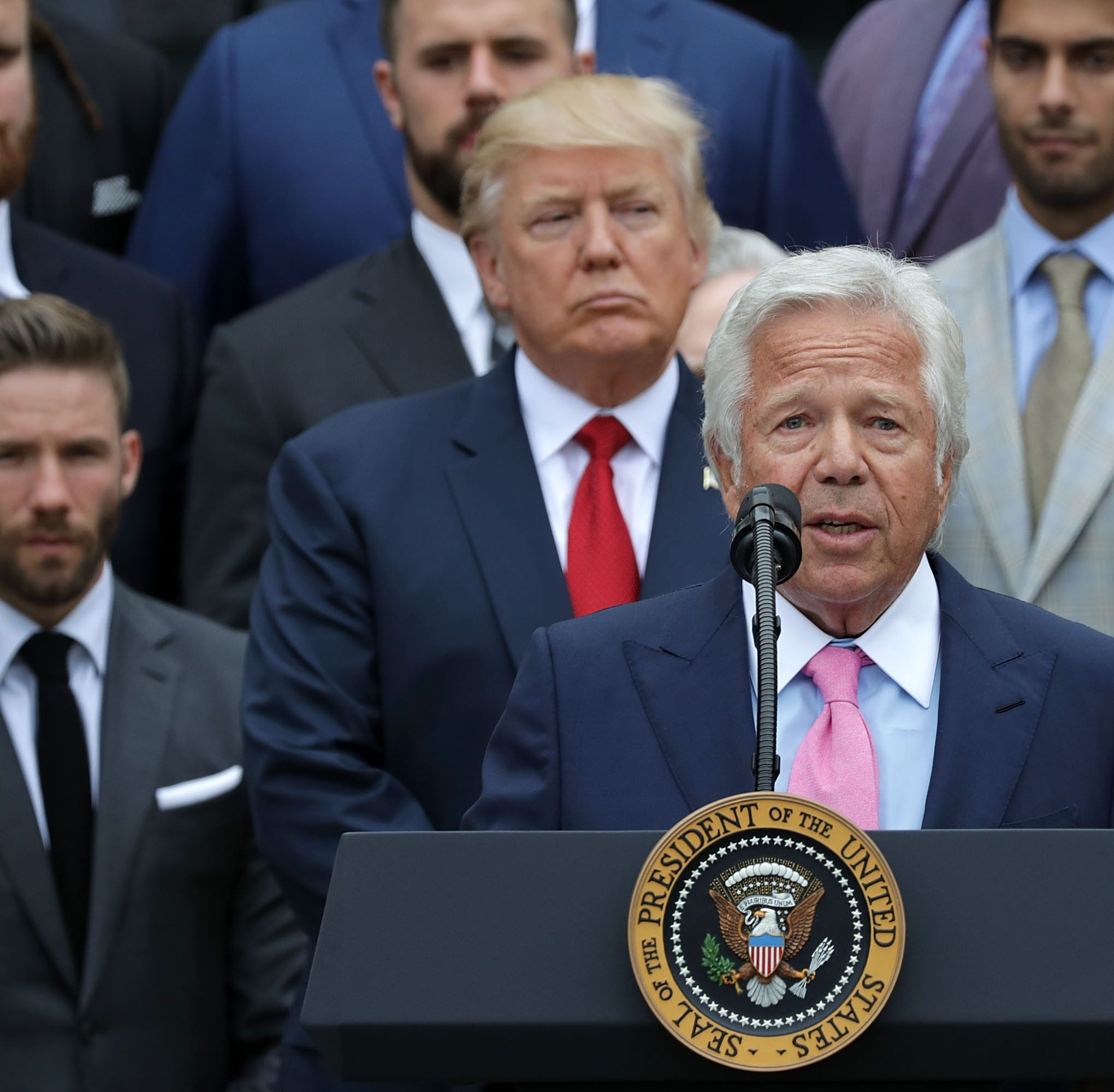 'It's very sad': President Trump on Patriots owner Robert Kraft's soliciting prostitution charges