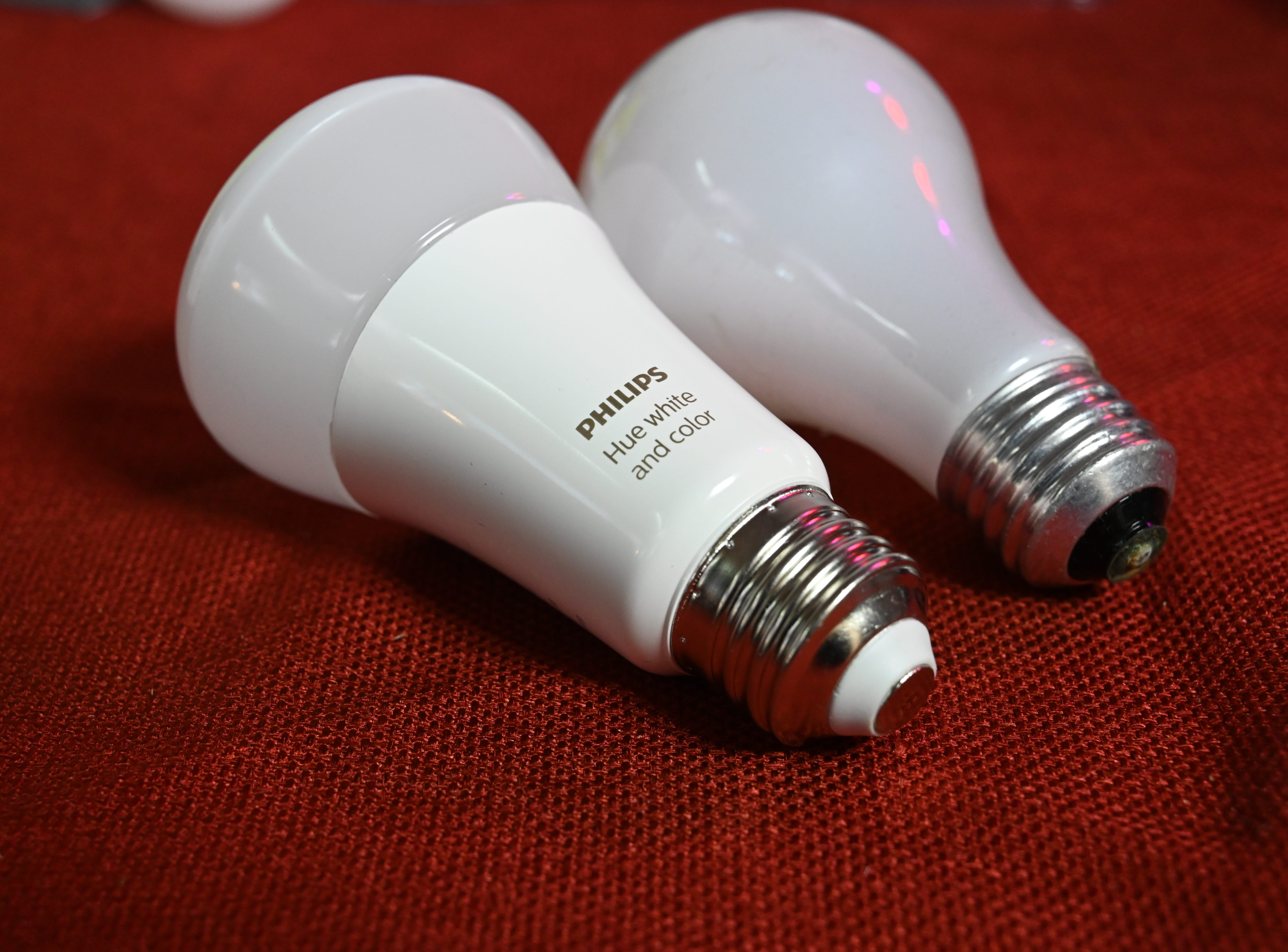 "A ""smart"" bulb from Philips and a plain vanilla ""dumb"" light."