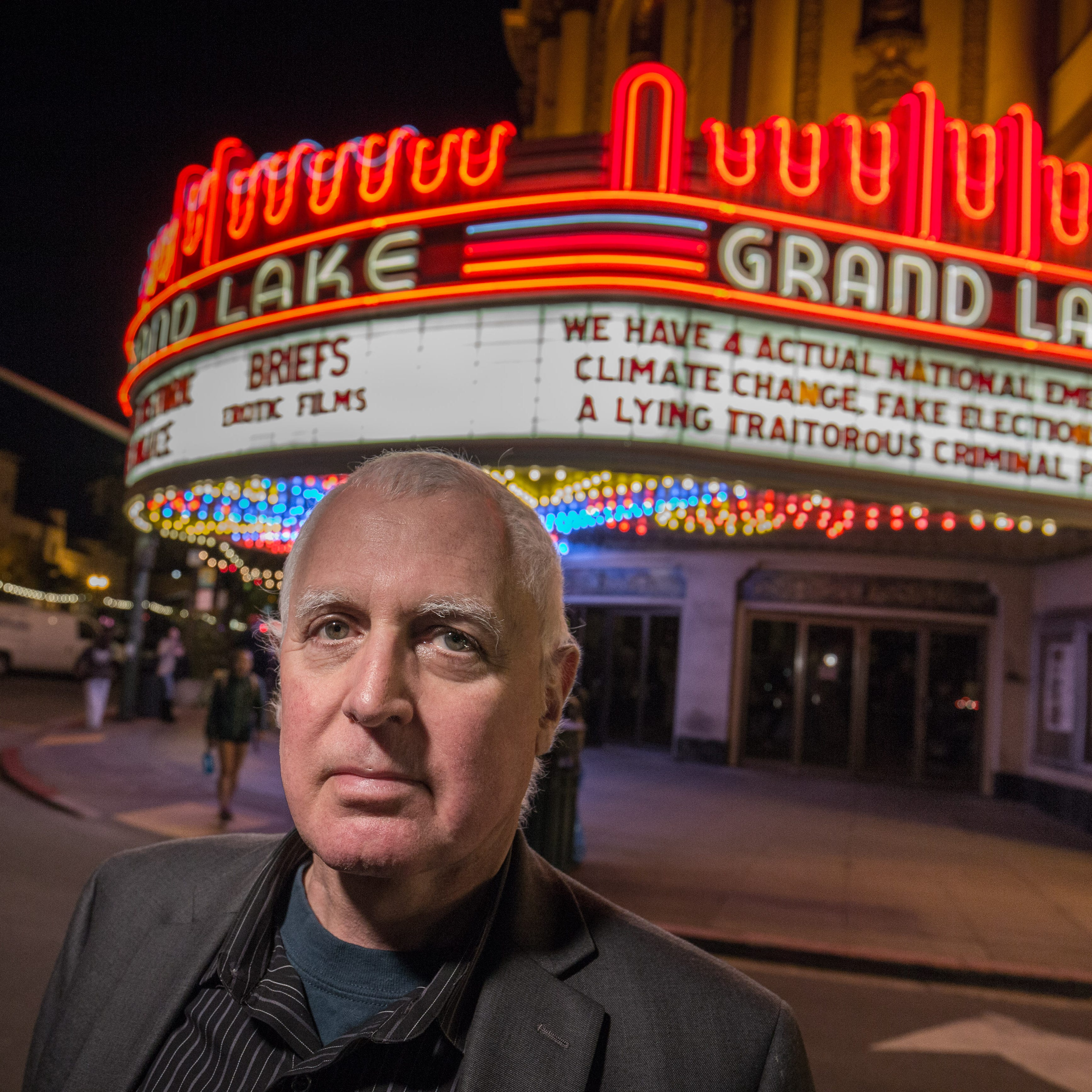 What's playing at this California theater? Donald Trump protests (and some movies, too)