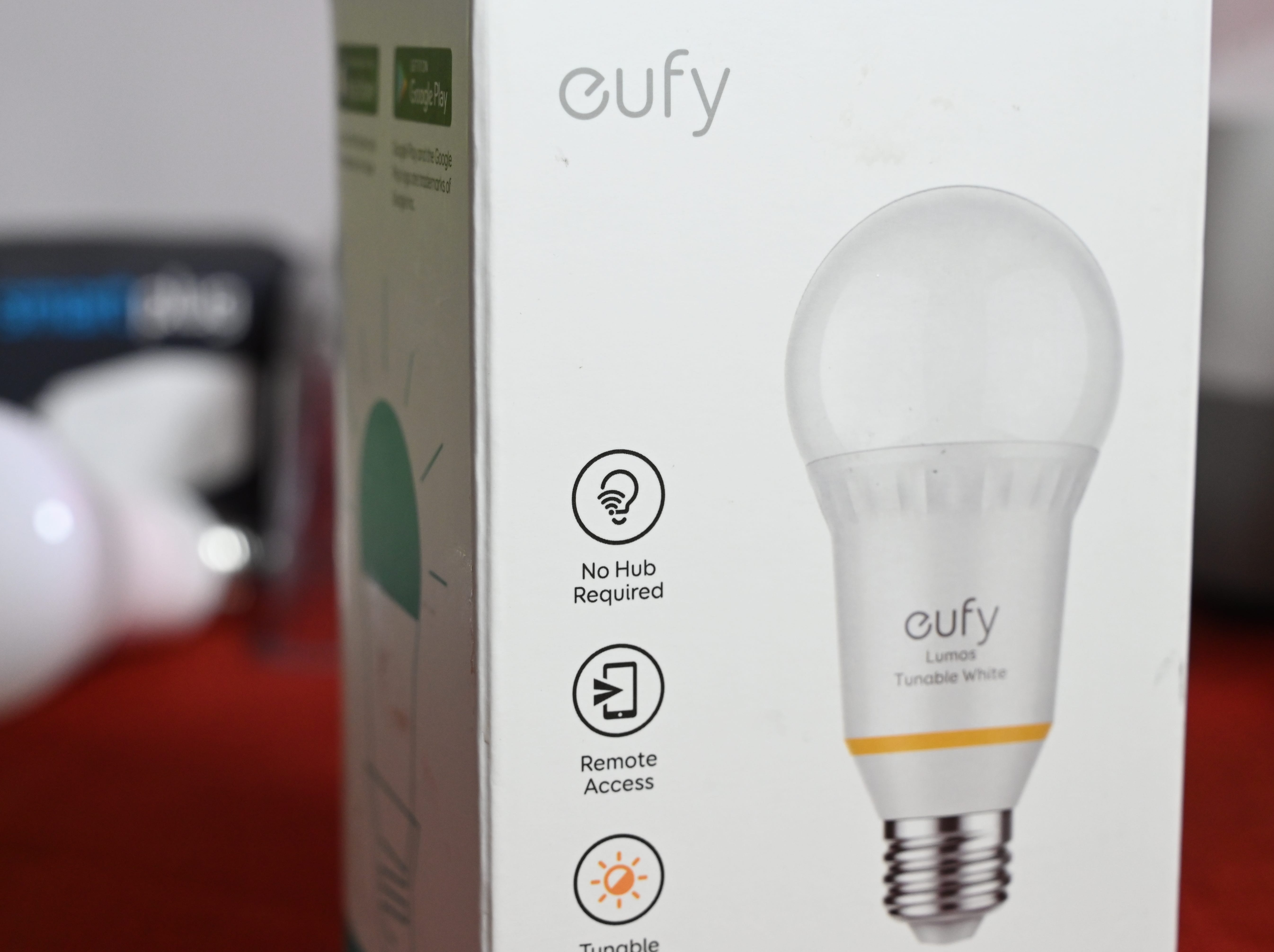 "The Eufy brand of smart lights touts ""no hub"" required for installation."