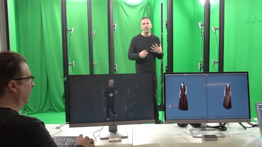 Evercoast volumetric technology creates holograms of people.