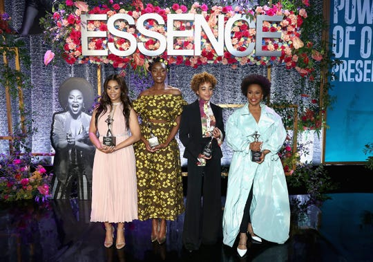 Honorees Regina Hall, KiKi Layne, Amandla Stenberg, and Jenifer Lewis attend the 2019 Essence Black Women in Hollywood Awards Luncheon at Regent Beverly Wilshire Hotel on February 21, 2019 in Los Angeles, California.