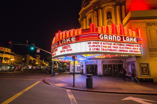 The Grand Lake Theater in Oakland, Calif. Feb. 21, 2019.