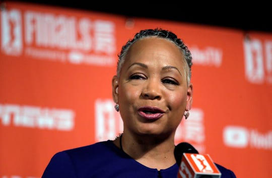 Lisa Borders, former president and CEO of Time's Up.