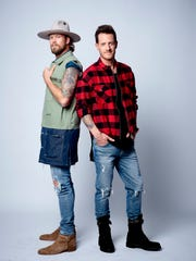 Brian Kelley, left, and Tyler Hubbard make up the country music duo, Florida Georgia Line.