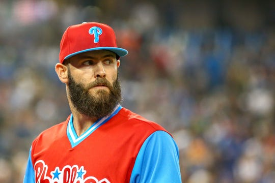 Jake Arrieta signed a three-year $75 million deal with the Phillies last offseason.
