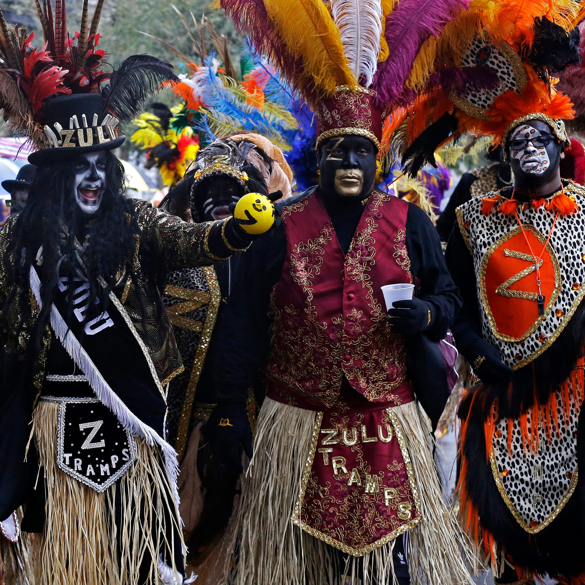 Protesters go after 110-year-old group's Mardi Gras tradition of black makeup