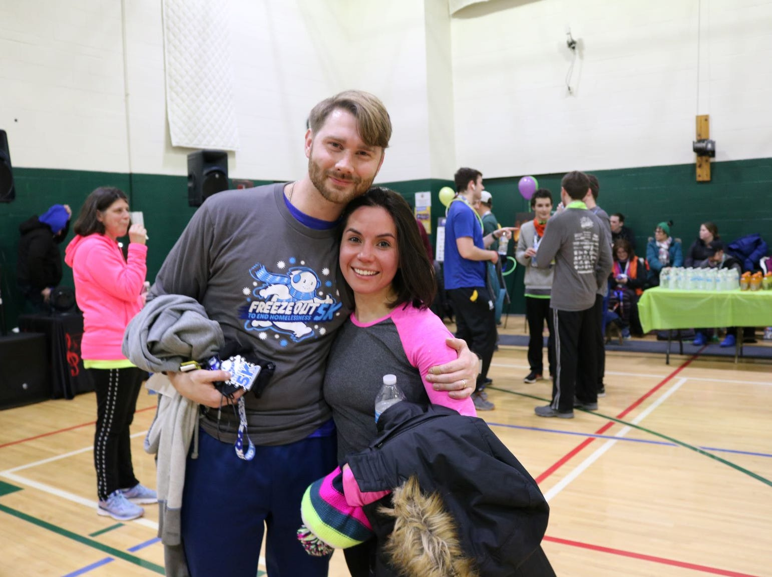 Scenes from Friday night's Freeze Out 5K hosted by the Rescue Mission.