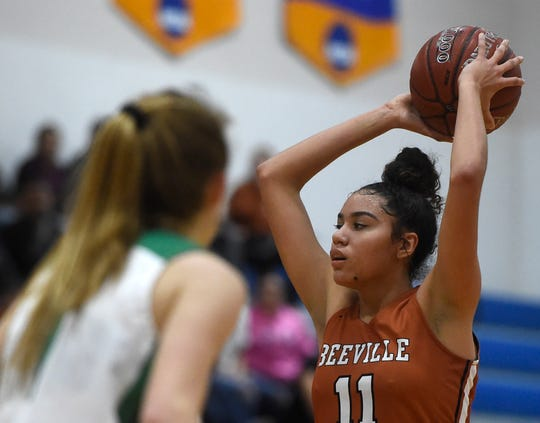 Beeville High School plays Burnet High School in the Class 4A regional semifinal game, Friday, Feb. 22, 2019, in Kingsville.