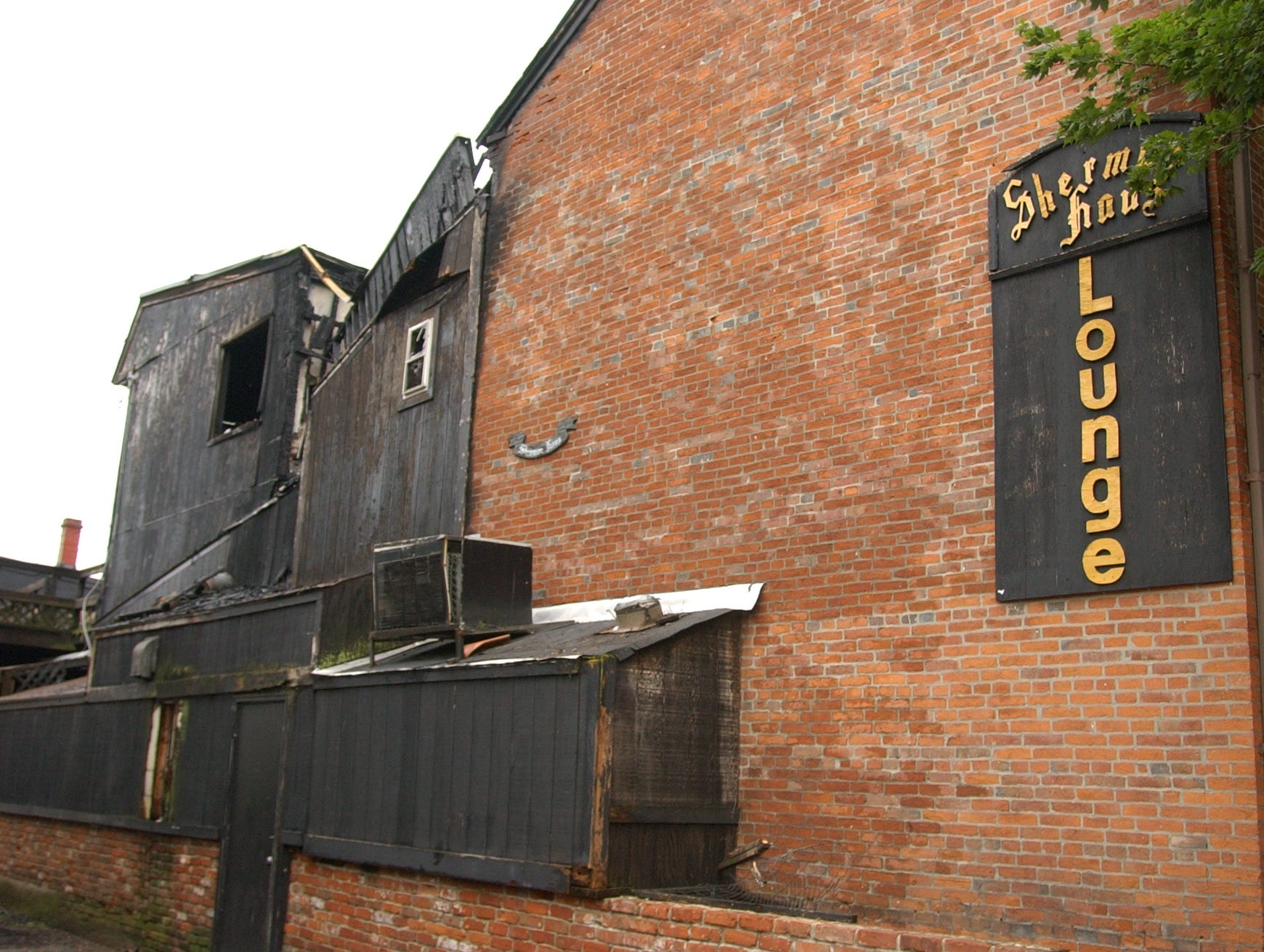 A July 22, 2007 fire heavily damaged the Sherman Haus on East Second Street.