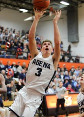 Zach Fout goes up to the rim in sectional final against Portsmouth. Adena High School basketball went 6-16 during the 2017-18 season but this year they have completely turned it around as they are in a district semi.