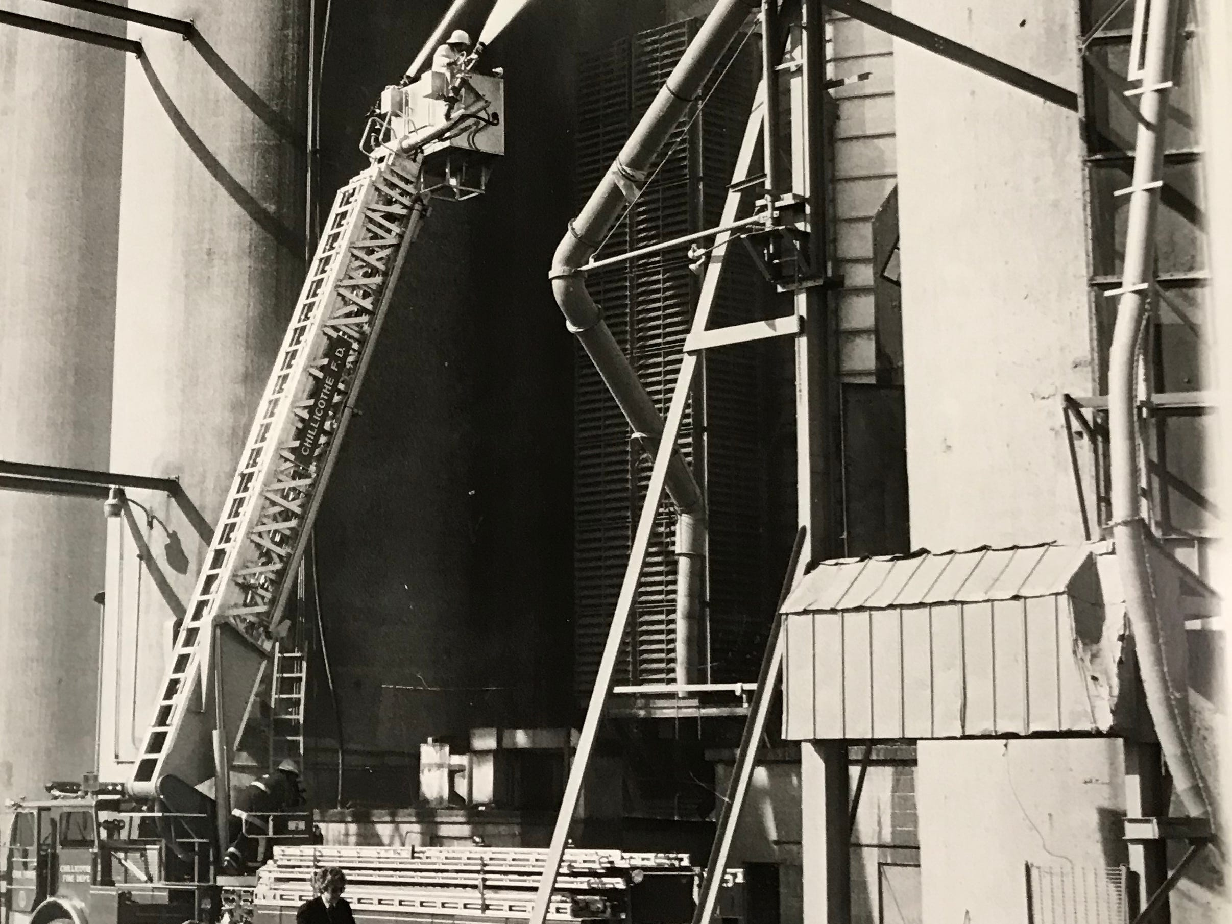 In October 1984, the Chillicothe Fire Department provided mutual aid to fight a fire in an elevator dryer at Pickaway Grain Co.