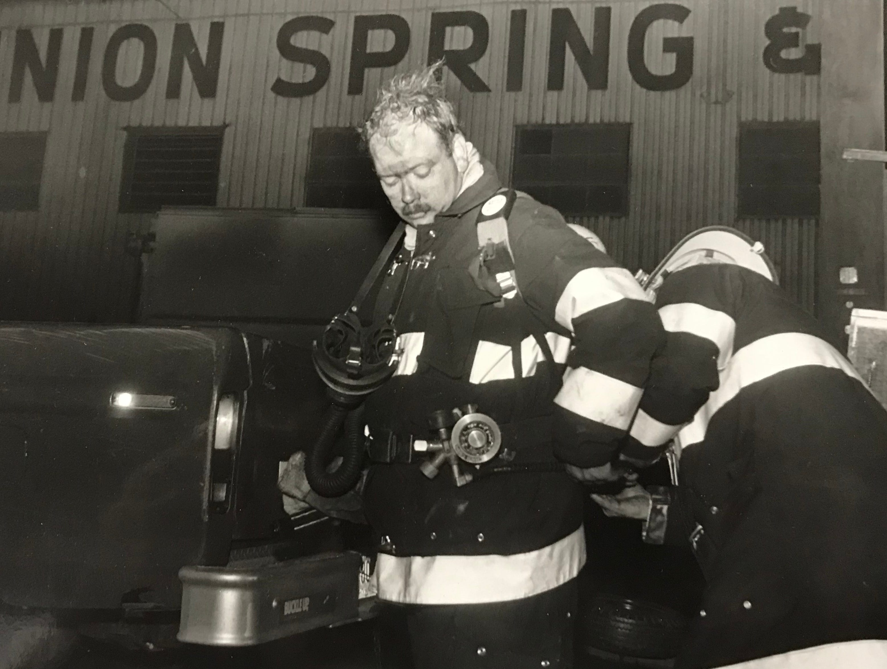 Chillicothe Firefighters Bob Harmon and Jim Joslyn in this undated Gazette file photo.
