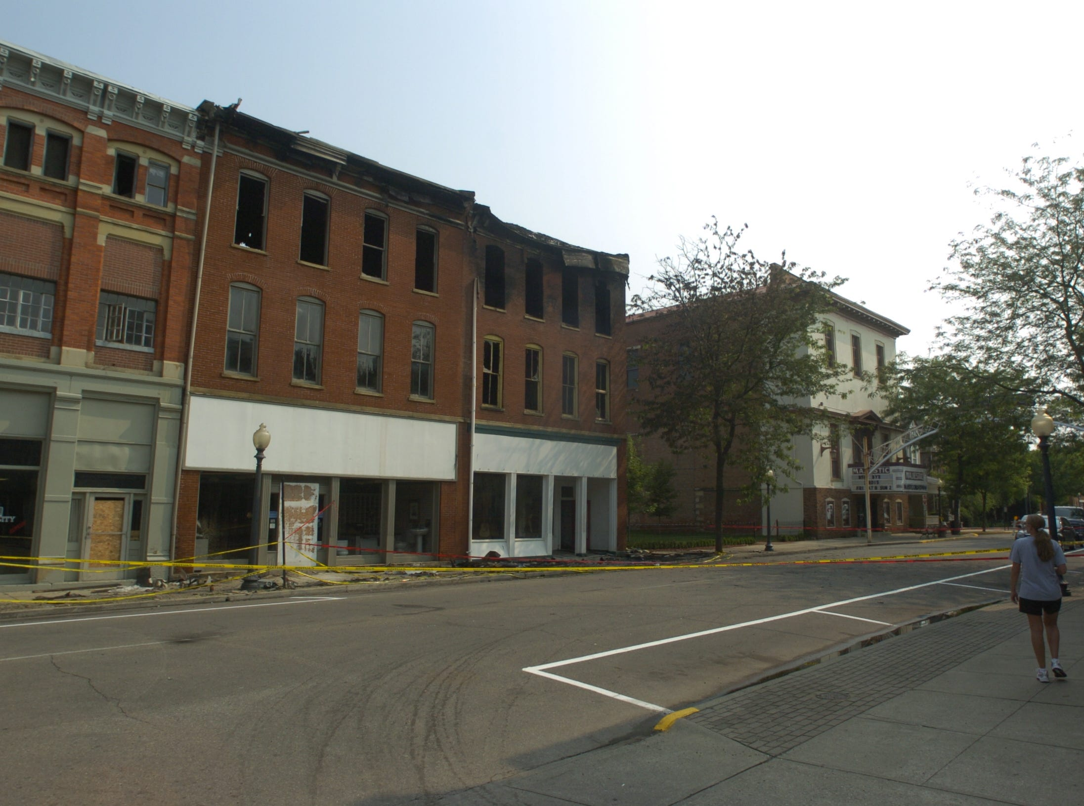 Damage from a fire July 17, 2007, on  East Second Street.