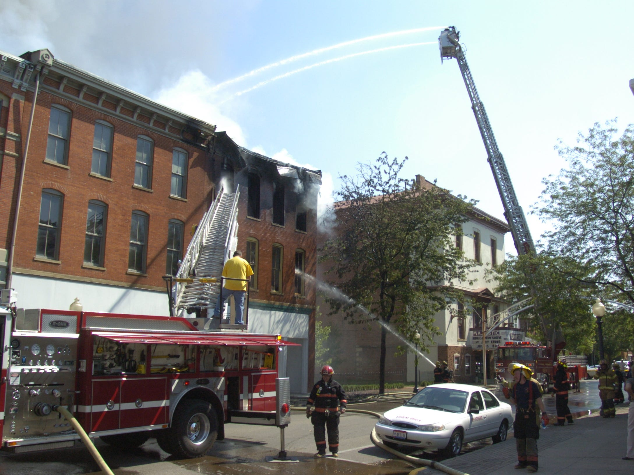 Chillicothe firefighters battle a fire July 17, 2007, on  East Second Street.