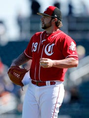 Brandon Finnegan worked a 1-2-3 inning against the San Francisco Giants in his second outing of the spring.