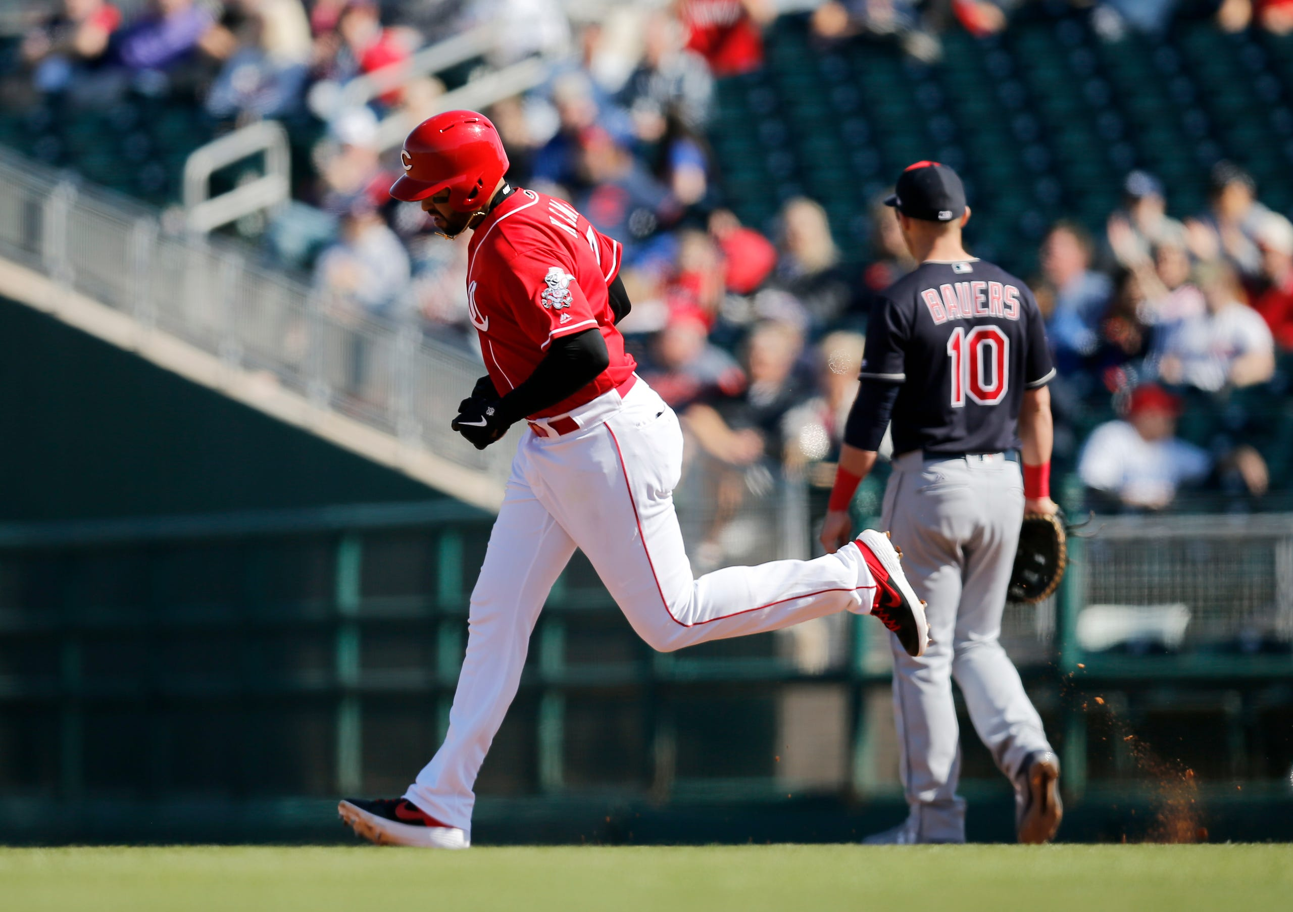 PHOTOS: Reds and Indians play to 3-3 tie in Spring Training