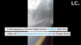 A student took this video Thursday, Feb. 21, 2019, minutes before the road was closed by the Montgomery County Highway Department.