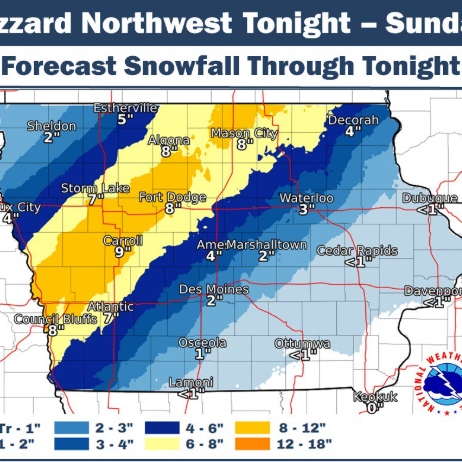 'Dangerous travel with near whiteout conditions' in some parts of Iowa, weather service says