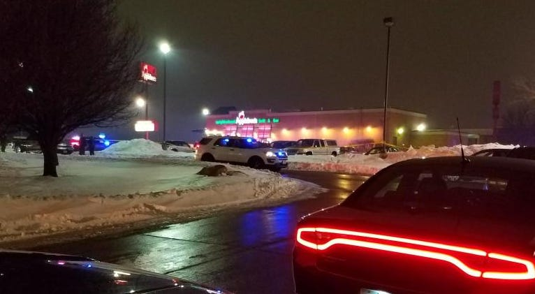 The scene outside Applebee's in Altoona after a woman was shot and killed late in the evening of Feb. 22, 2019.