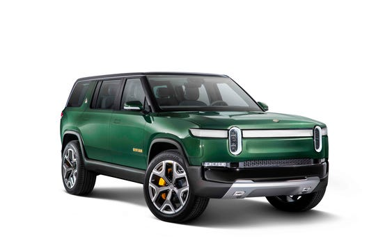 The electric Rivian R1S SUV is pictured in this recent undated handout photograph. Rivian has raised $700 million in a funding round led by Amazon as it gears up to launch vehicles to compete with the likes of Tesla by 2020.
