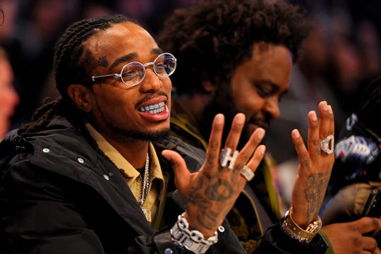 Recording artist Quavo during the 2019 NBA All-Star Game in Charlotte, Feb 17.