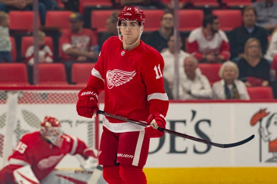 Filip Zadina will practice with the Wings Saturday, and make his debut the next afternoon at Little Caesars Arena.