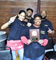 LaShell Black and her Wingz & Thingz crew at the 2019 Evansville Wing Fest.