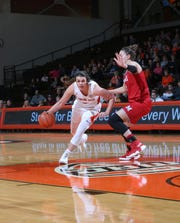 Oak Harbor grad Andrea Cecil leads the MAC in 3-point shooting percentage for BGSU.