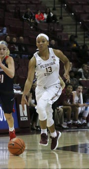 Florida State junior guard Nausia Woolfolk is averaging nearly 13 points and 4 rebounds per game this season.