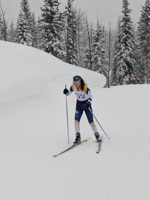 Poudre School District Nordic Ski Team member Maddie Potter competes at the Colorado state meet Friday near Durango.