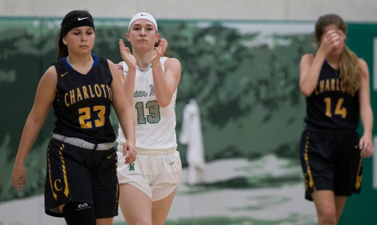 Senior Tatum Hayes and the Fort Myers High School girls basketball team seek their fourth straight state championship in Lakeland this weekend. The Green Wave will face Ponte Vedra Nease in a Class 7A semifinal at noon Friday.