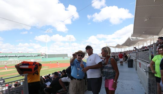 Boston Red Sox were victorious over the New York Yankees in front of packed house in their spring training opener at Jet Blue Park, Fort Myers, Florida. February 23, 2019.
