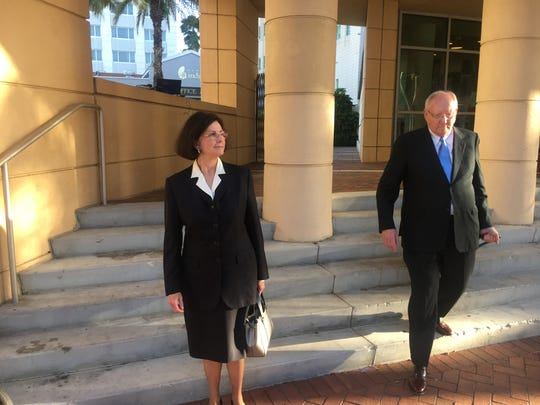 Kay and Robert Gow leave federal court after conviction on 20 counts connected to the use of Lee County grant funds for personal purposes