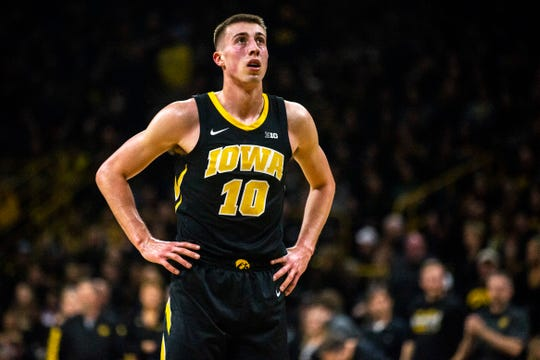 Iowa wing player Joe Wieskamp, waiting to shoot a free throw last season, knows he needs to be the main man as a sophomore if the Hawkeyes are to take flight. He vows he'll be ready.