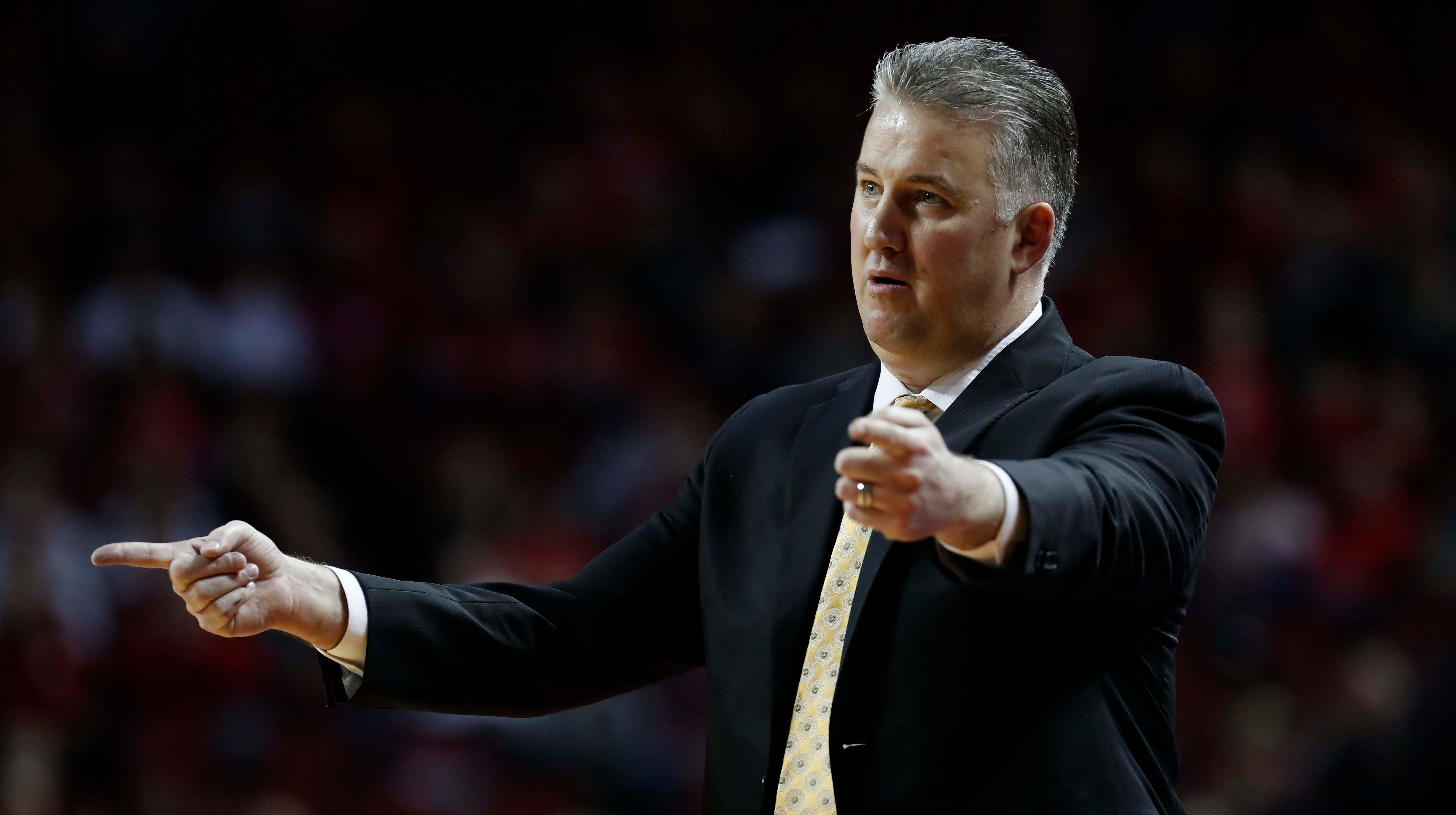 Purdue Boilermakers head coach Matt Painter reacts during the game against the Nebraska Cornhuskers in the second half at Pinnacle Bank Arena. Purdue won 75-72.