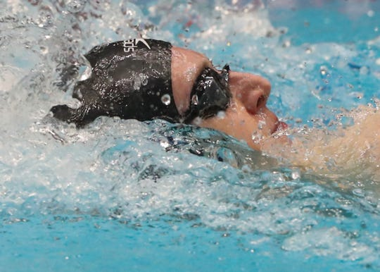 FILE -- Carmel swimmer Wyatt Davis