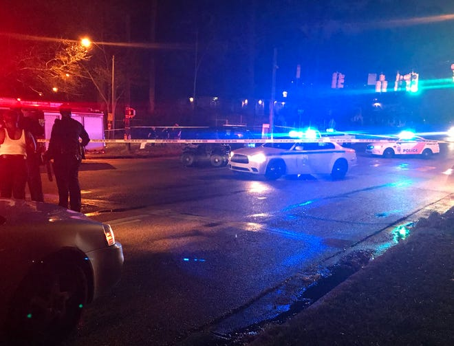 Pawn shop manager Charles Ponthieux was shot in the intersection of Hanging Moss Road and Forest Avenue in Jackson on Friday, Feb. 22.